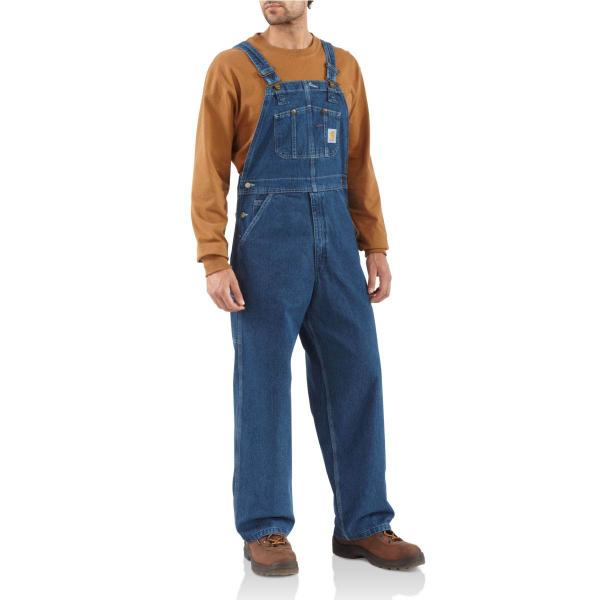 Carhartt Men's Washed-Denim Bib Overall - Unlined