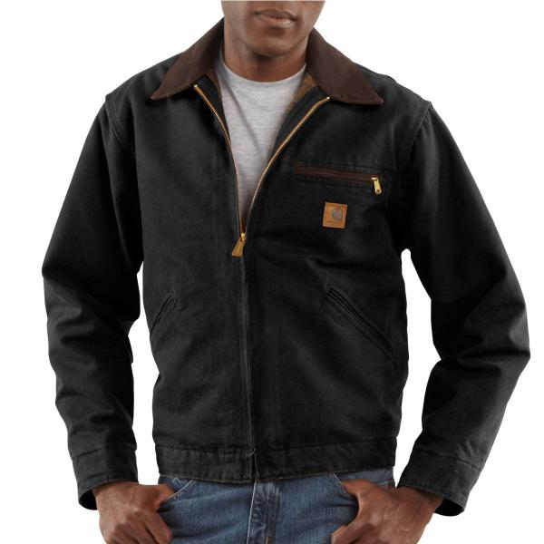 Carhartt Men's Sandstone Detroit Jacket - Blanket Lined
