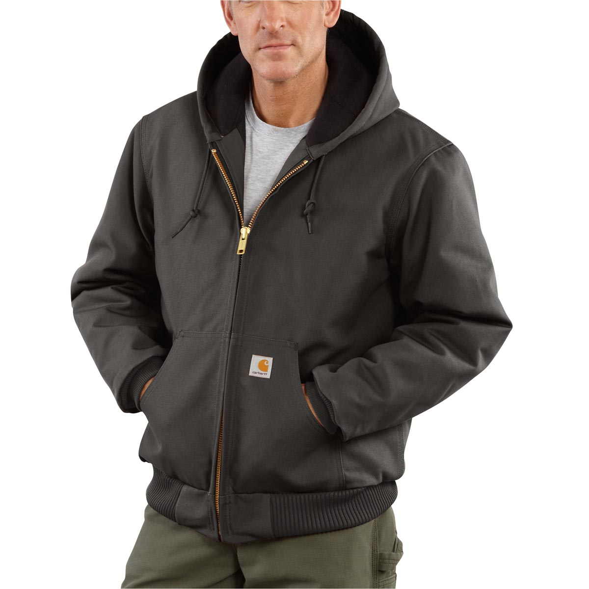 Carhartt Men s Big /& Tall Quilted Flannel-Lined Sandstone Active Jacke J130
