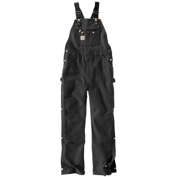 Carhartt Men's Duck Zip-to-Thigh Bib Overall - Unlined