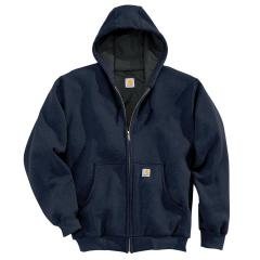 Men's Thermal-Lined Hooded Zip-Front Sweatshirt
