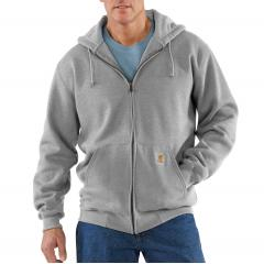 Men's Heavyweight Hooded Zip-Front Sweatshirt