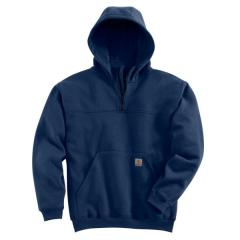 Men's Heavyweight Hooded Zip-Mock Sweatshirt