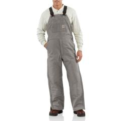 Men's Flame-Resistant Duck Bib Overall - Quilt Lined