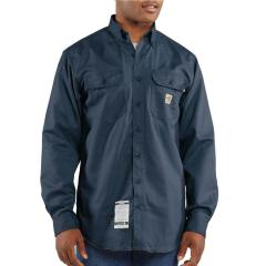 Carhartt Men's Flame-Resistant Twill Shirt with Pocket Flaps