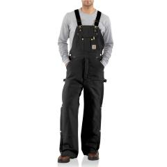 Carhartt Duck Zip-to-Thigh Bib Overall - Quilt Lined