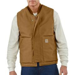 Men's Flame-Resistant Duck Vest - Quilt Lined