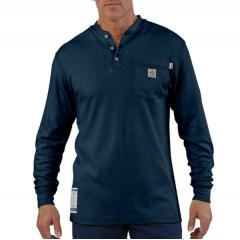Men's Flame-Resistant Traditional Long-Sleeve Henley