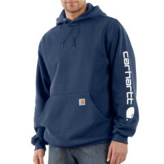 Men's Midweight Signature Sleeve Logo Hooded Sweatshirt