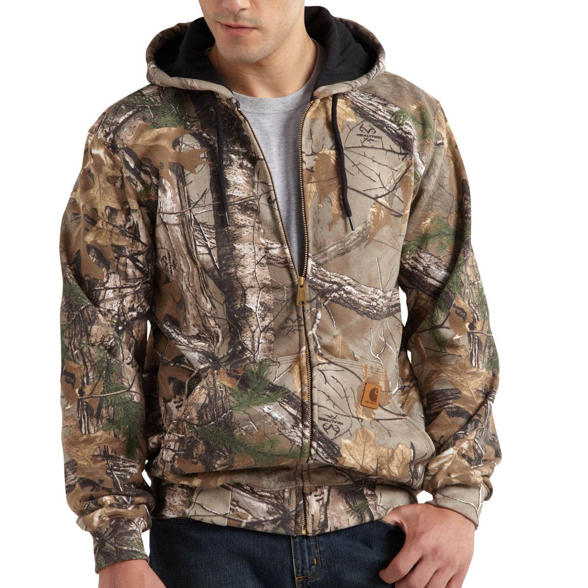 Carhartt Men's Midweight WorkCamo Hooded Zip Front Sweatshirt