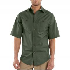 Short-Sleeve Canvas Tradesmen Shirt