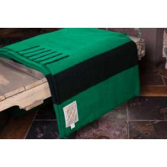 Green Wool 6 Point Blanket - Queen