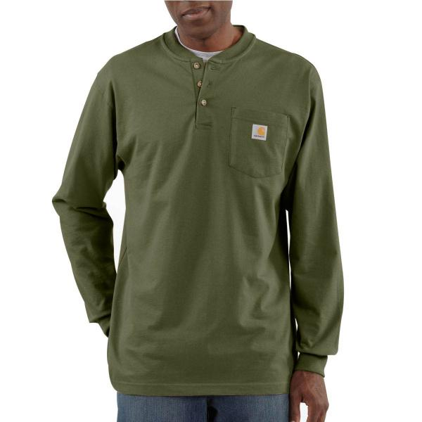 Carhartt Men's Long-Sleeve Workwear Henley - Discontinued Pricing