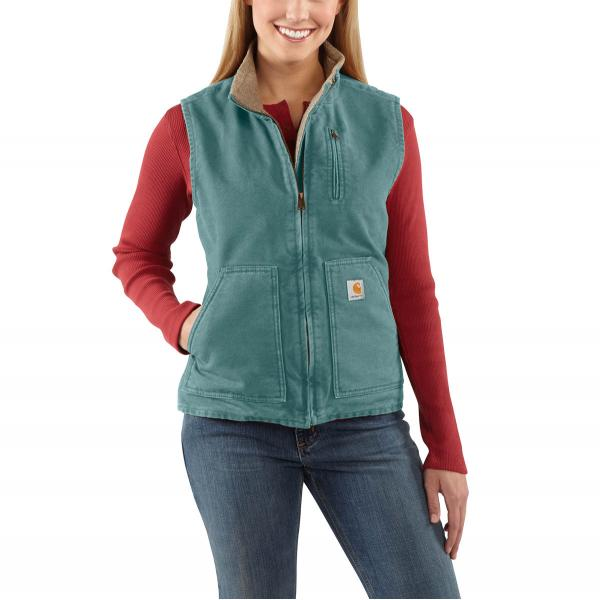 Carhartt Women's Sandstone Mock-Neck Vest - Sherpa Lined - Discontinued Pricing