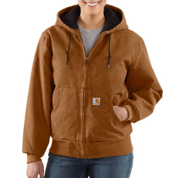Carhartt Women's Sandstone Active Jac - Quilted Flannel Lined -Discontinued Pricing