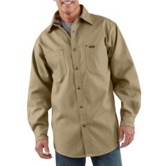 Men's Canvas Shirt Jac - Flannel Lined