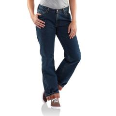 Carhartt Women's Relaxed-Fit Jean - Straight Leg - Flannel Lined - Closeout Pricing