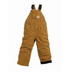 Carhartt Boys' Washed Duck Bib Overall - Quilt Lined - Sizes 8-16