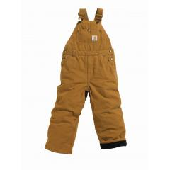 Carhartt Boys' Washed Duck Bib Overall - Quilt Lined - Sizes 4-7
