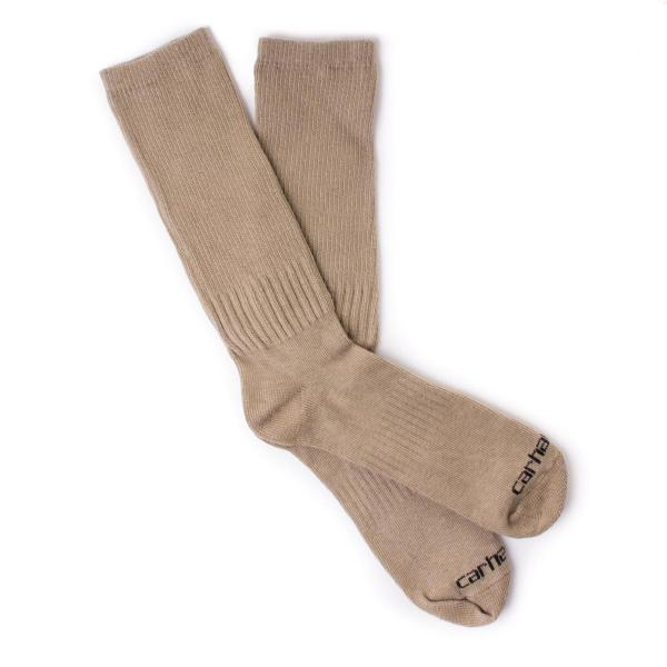 Carhartt Work Wear Flat-Knit Crew Sock - 3 Pack