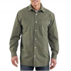 Long-Sleeve Lightweight Plaid Shirt - Discontinued