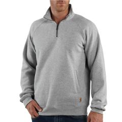 Men's Midweight Quarter-Zip Mock Neck Sweatshirt