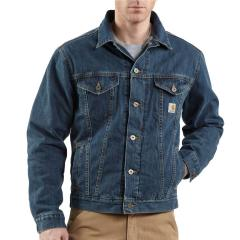 Men's Denim Jean Jacket - Sherpa Lined