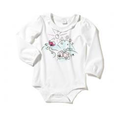 Infant Girls' Ruffle Neck Bodyshirt