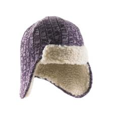 Girls' Marled Yarn Ear Flap Hat - Sherpa Lined