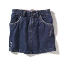 Girls' Washed Denim Skirt
