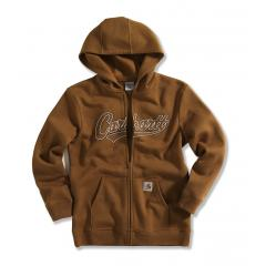 Carhartt Boys' Logo Fleece Zip Front Sweatshirt