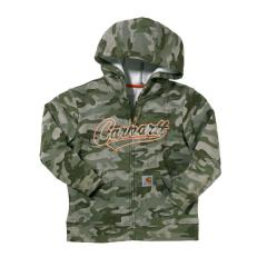 Boys' Camo Fleece Zip Front Sweatshirt