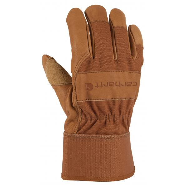 Carhartt Men's Grain Leather Work Glove - Safety Cuff