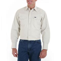 Men's Long Sleeve Twill Solid