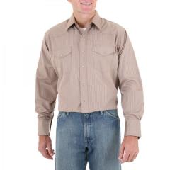 Men's Sport Western Shirts Dobby Stripe