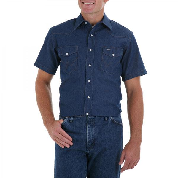 Wrangler Men's Cowboy Cut Collection Short Sleeve