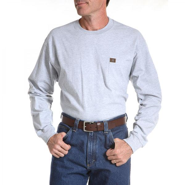 30d76f60a9f8 Wrangler Men's Riggs Workwear Long Sleeve Pocket T-Shirt