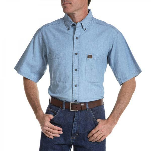 Wrangler Men's Riggs Workwear Chambray Work Shirt