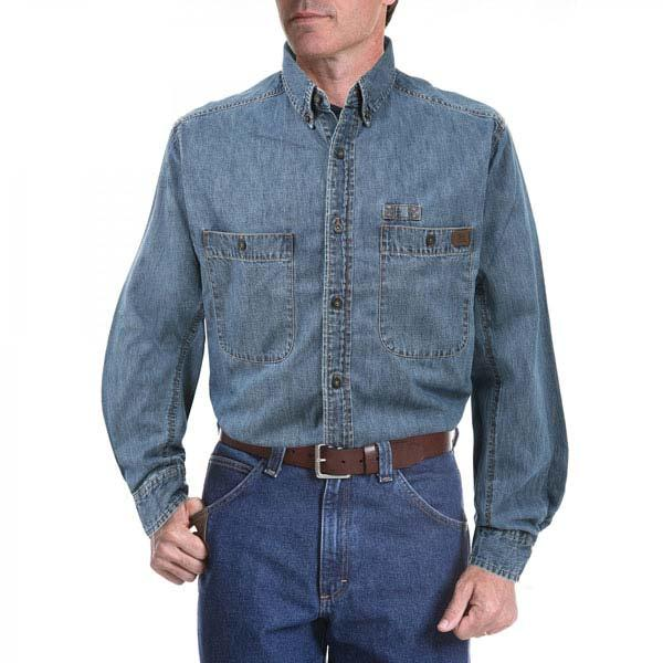 Wrangler Men's Riggs Workwear Denim Work Shirt