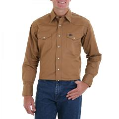 Men's Rawhide Long Sleeve Twill Solid