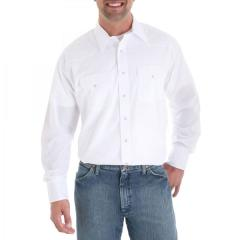 Men's Long Sleeve Solid Broadcloth Sport Western Shirts