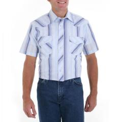Men' s Short Sleeve Lightweight Plaid