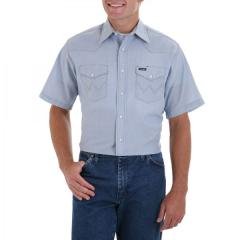 Wrangler Men's Short Sleeve Chambray Work Shirt