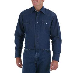 Men's Cowboy Cut Long Sleeve Denim Shirt