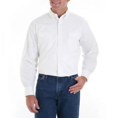 Men's White Cotton Western Dress Shirt