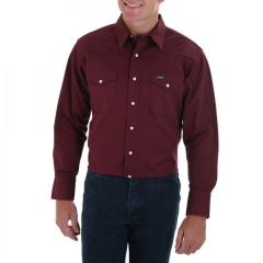 Wrangler Men's Red Oxide Long Sleeve Twill Solid
