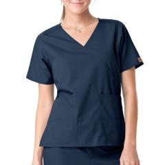 Women's Mock Wrap Two Pocket Top