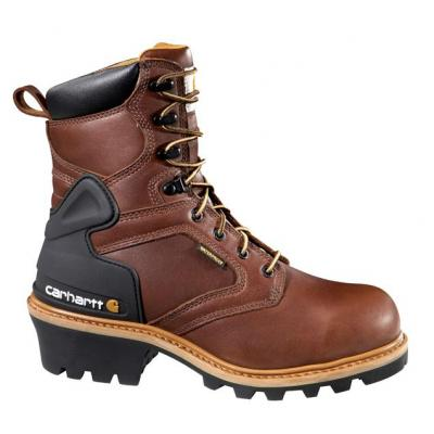 "Carhartt Men's 8"" Waterproof Logger Boot - Steel Toe"