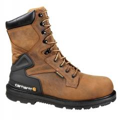 Carhartt Men's 8 Inch Waterproof Bison Work Boot - Non-Safety Toe