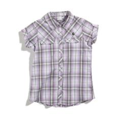 Girls' Woven Plaid Shirt